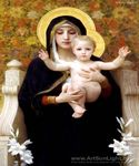 Madone Assise by  Adolphe Bouguereau (Painting ID: DA-7144-KA)