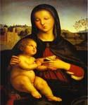Madonna and Child 18 by  Sanzio Raphael (Painting ID: DA-3818-KA)