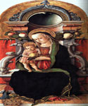 Madonna and Child Enthroned with a Donor  by  Carlo Crivelli (Painting ID: DA-0275-KA)