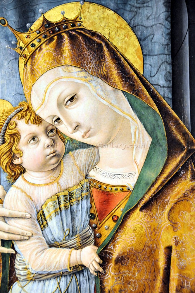 """Madonna and Child with Saints"" by  Carlo Crivelli"