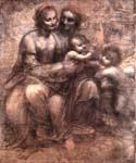 Madonna and Child with St Anne and St John by  Leonardo Da Vinci (Painting ID: DV-2128-KA)