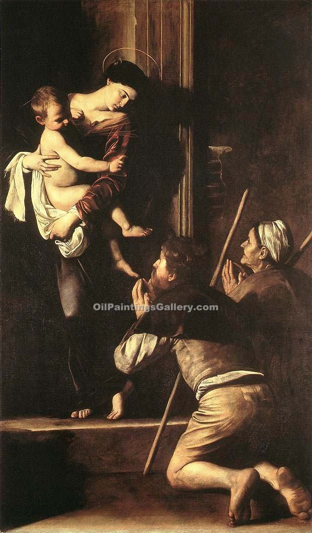 Madonna di Loreto by Caravaggio | Abstract Landscape Paintings - Oil Paintings Gallery