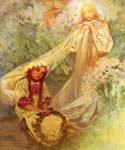 Madonna of the Lilies by  Alphonse Maria Mucha (Painting ID: CL-2030-KA)