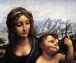 Madonna with the Yarnwinder by  Leonardo Da Vinci (Painting ID: DV-2120-KA)
