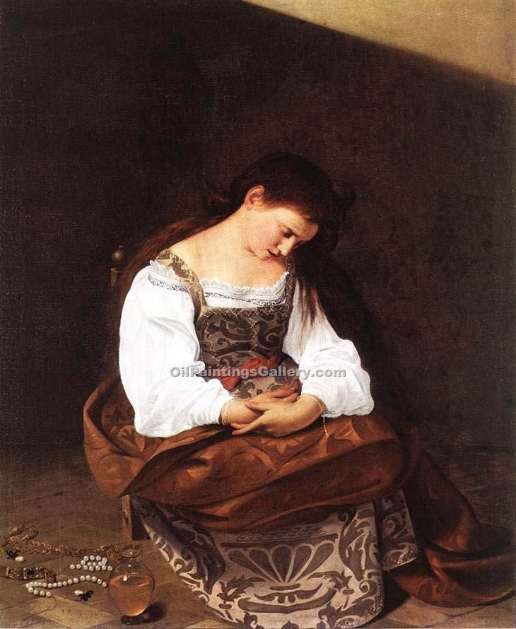 Magdalene by Caravaggio | African American Paintings - Oil Paintings Gallery