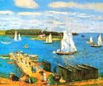Mahone Bay, Nova Scotia, Canada by  William Glackens (Painting ID: CL-3216-KA)