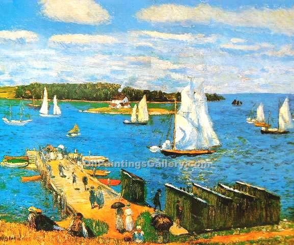 """Mahone Bay"" by  William Glackens"