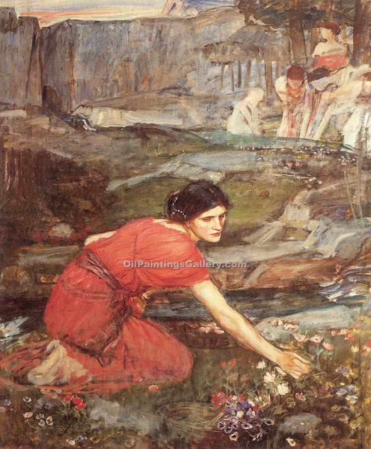 """Maidens Picking"" by  John William Waterhouse"