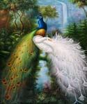 Majestic Peacocks  (Painting ID: AN-0925-KA)