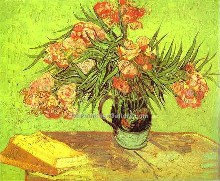 """Majolica Jar with Branches of Oleander"" by  Vincent Van Gogh"