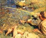Man Fishing by  John Singer Sargent (Painting ID: EI-0434-KA)