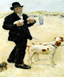 Man Walking Dogs by  Jean Francois Raffaelli (Painting ID: ED-1226-KA)