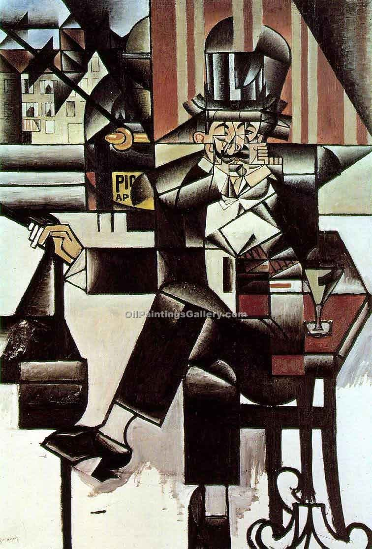"""Man in the Cafe"" by  Juan Gris"