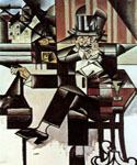 Man in the Cafe by  Juan Gris (Painting ID: AB-8501-KA)