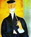 Man with Pipe by  Amedeo Modigliani (Painting ID: EI-2032-KA)