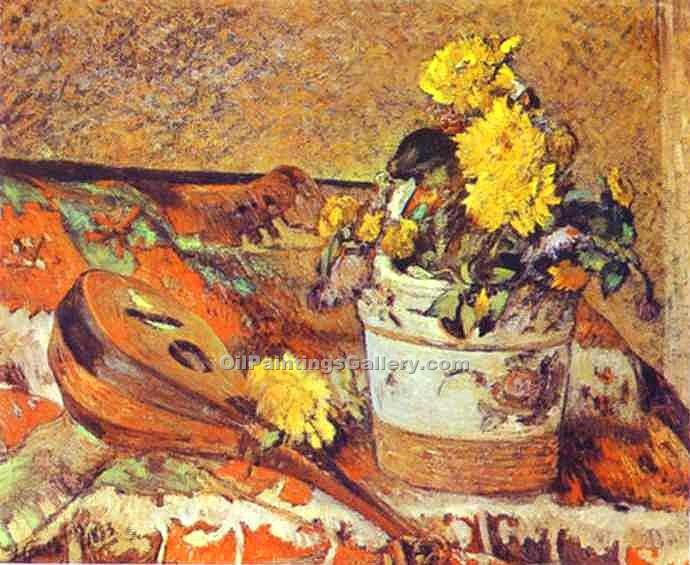 """Mandolina and Flowers"" by  Paul Gauguin"