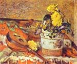 Mandolina and Flowers by  Paul Gauguin (Painting ID: GA-0403-KA)