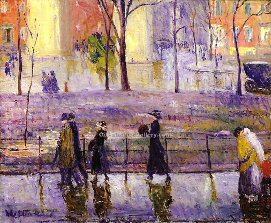 """March Day"" by  William Glackens"