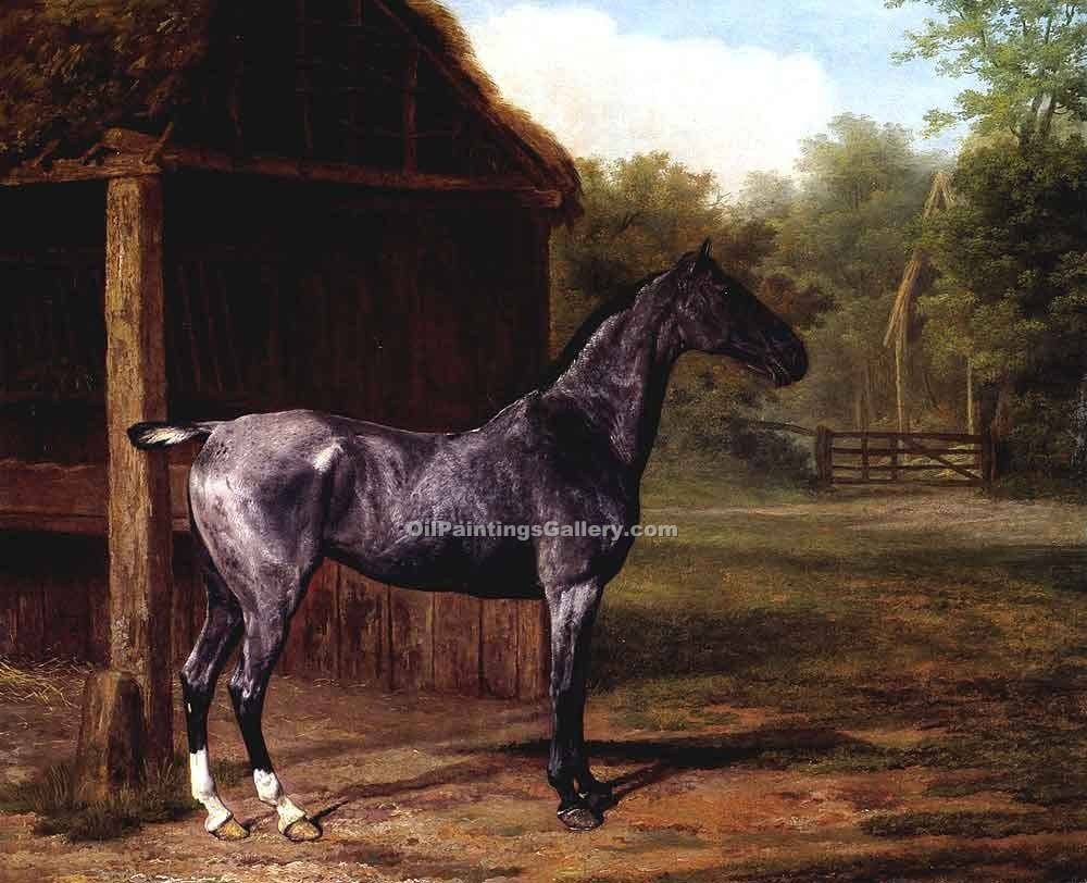 """Mare in a Landscape"" by  Jacques Laurent Agasse"