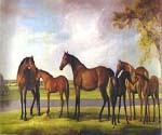 Mares and Foals Disturbed by an Approaching Storm by  George Stubbs (Painting ID: AN-2104-KA)