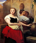 Margaret at the Fountain by  Ary Scheffer (Painting ID: CL-0220-KA)