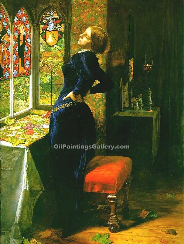 """Mariana"" by  John Everett Millais"