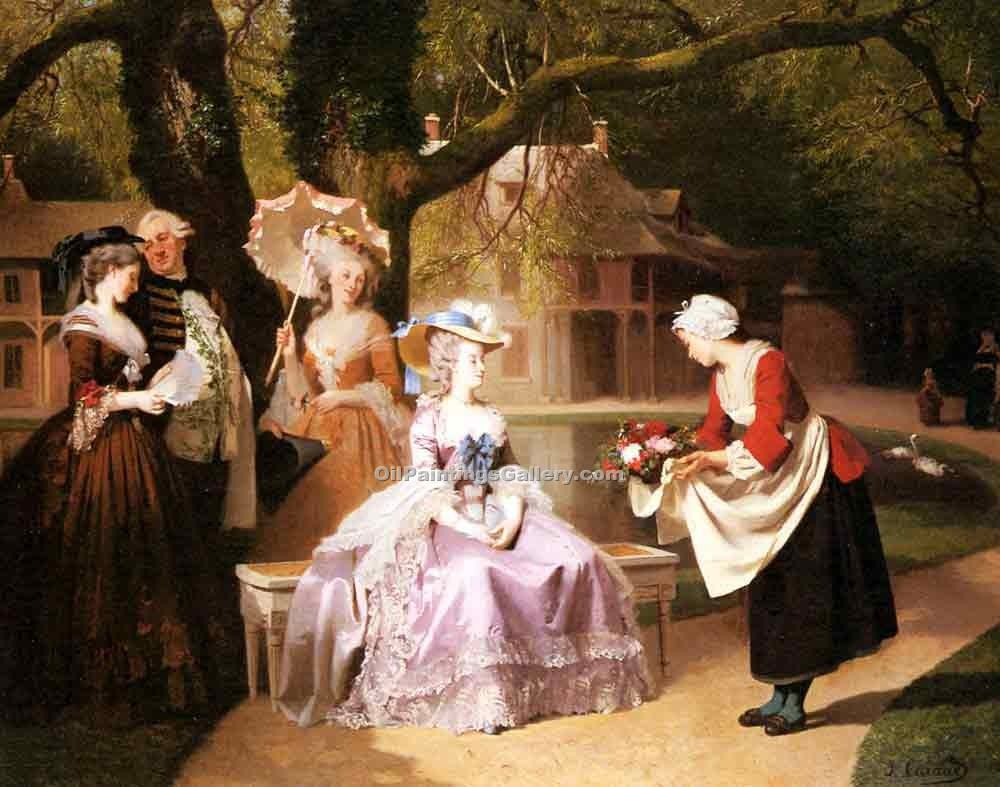 """Marie Antoinette and Louis XVI in the Garden"" by  Joseph Caraud"
