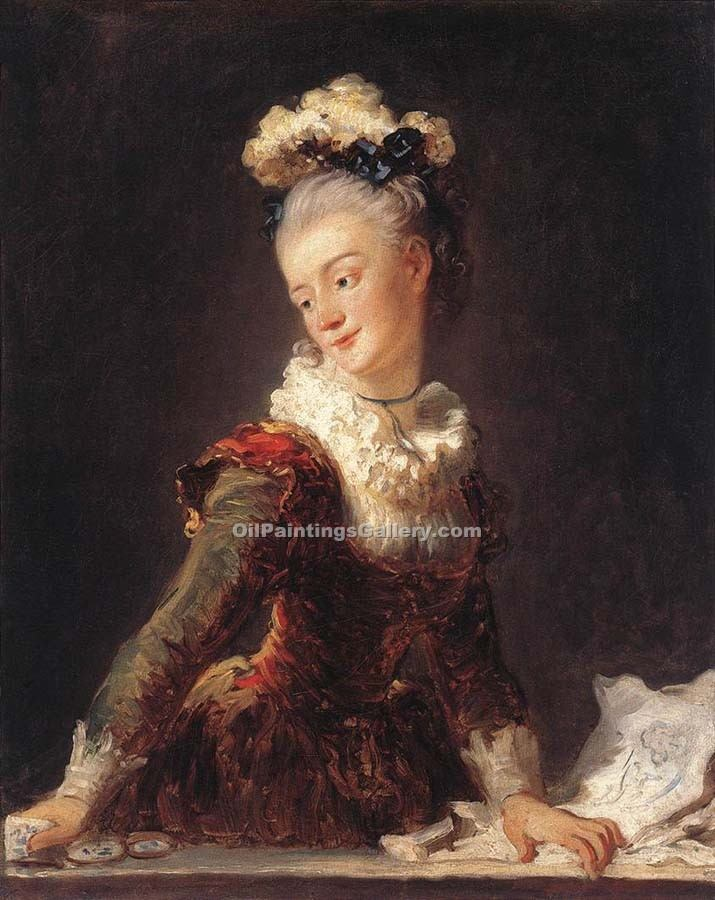 """Marie Madeleine Dancer"" by  Jean Honore Fragonard"