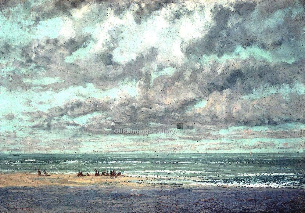 """Marine Les Equilleurs"" by  Gustave Courbet"