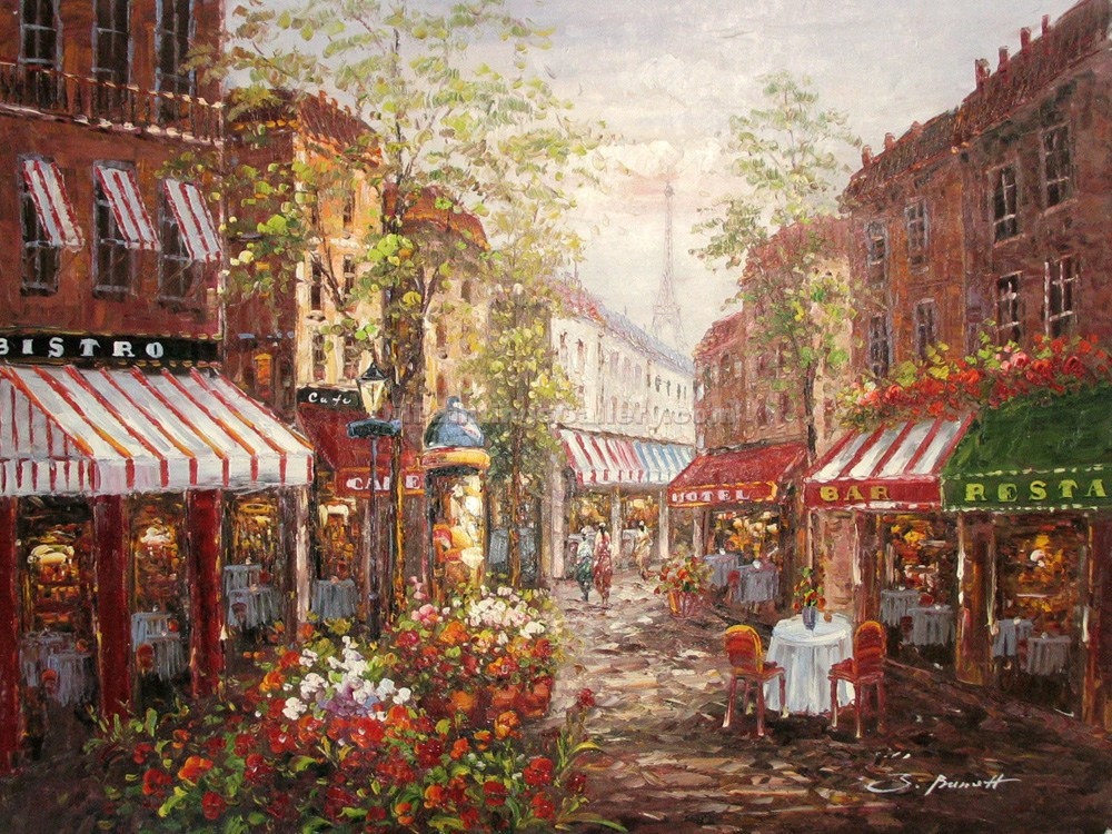 Buy Paintings of Famous Artists Oil Painting Online - Market Square 38 - Post Impressionism Paintings