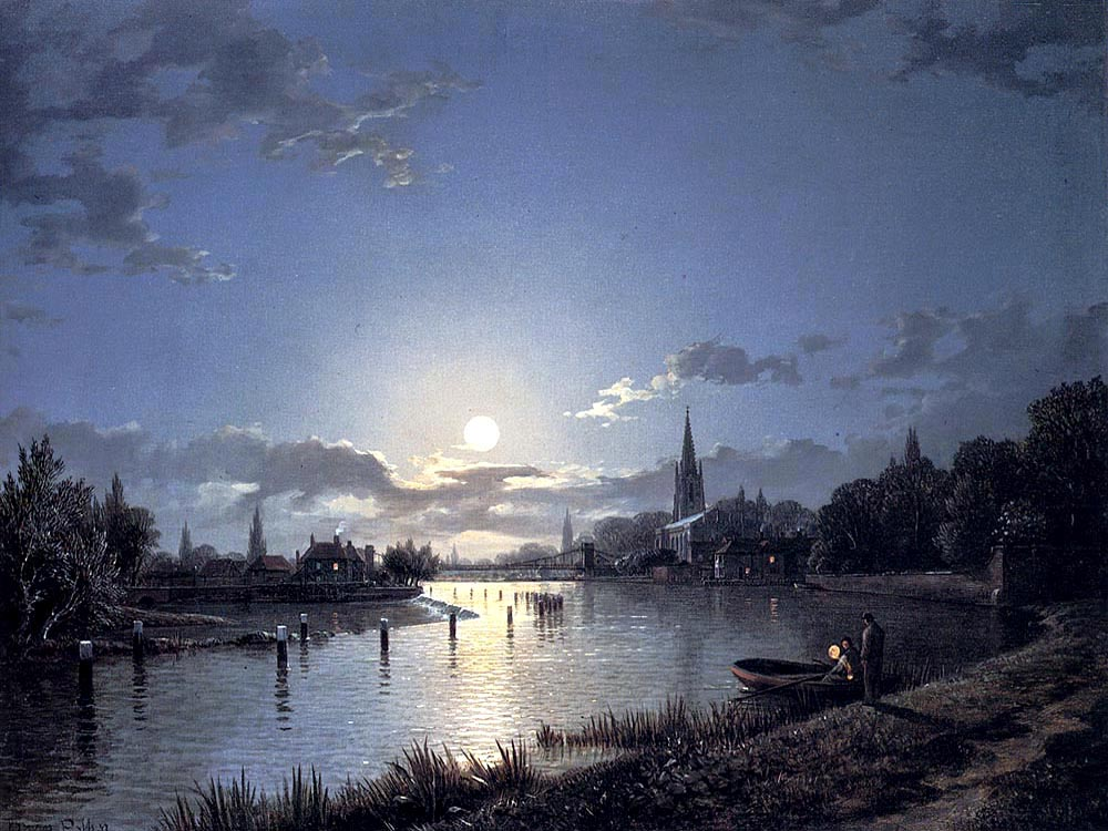 """Marlow on the Thames"" by  Henry Pether"