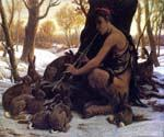 Marsyas Enchanting the Hares by  Elihu Vedder (Painting ID: CL-0830-KA)