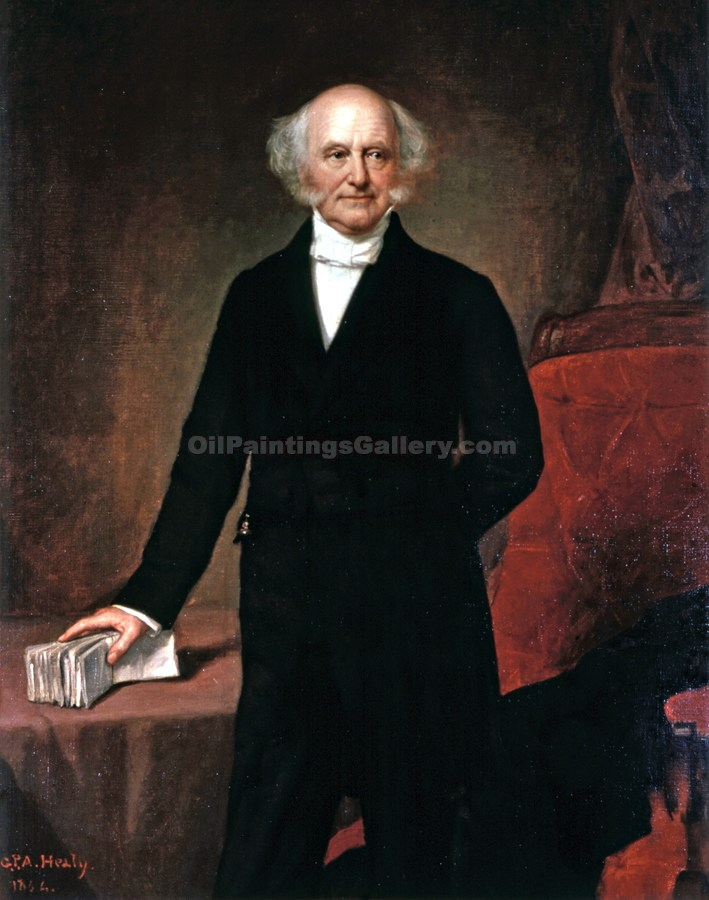 Buy Original Artworks Online | Paintings of Famous ArtistsPortrait & Landscape - Martin Van Buren, 8th President, Painted by George Peter Alexander Healy