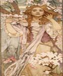 Maud Adams as Joan of Arc by  Alphonse Maria Mucha (Painting ID: CL-2010-KA)
