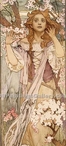 """Maud Adams as Joan of Arc"" by  Alphonse Maria Mucha"