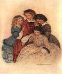Meg, Jo, Beth & Amy by  Jessie Willcox Smith (Painting ID: CL-1914-KA)