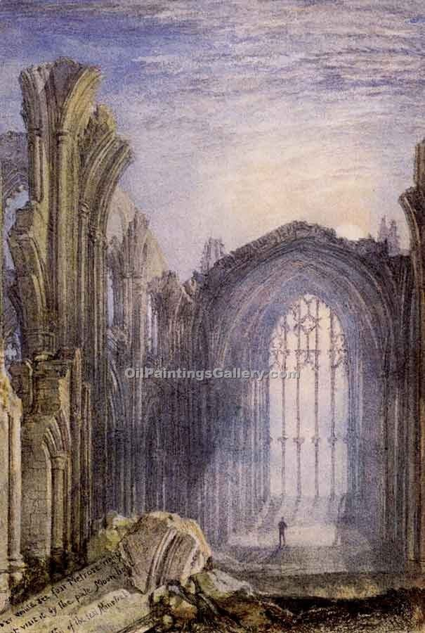 """Melrose Abbey"" by  William Turner"