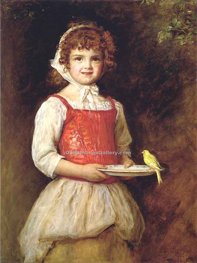 Merry by Millais John Everett | Portraits Painting On Canvas - Oil Paintings Gallery