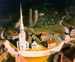 Midnight Ride of Paul Revere by  Grant Wood (Painting ID: LA-2828-KA)