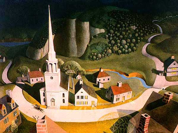 """Midnight Ride of Paul Revere"" by  Grant Wood"