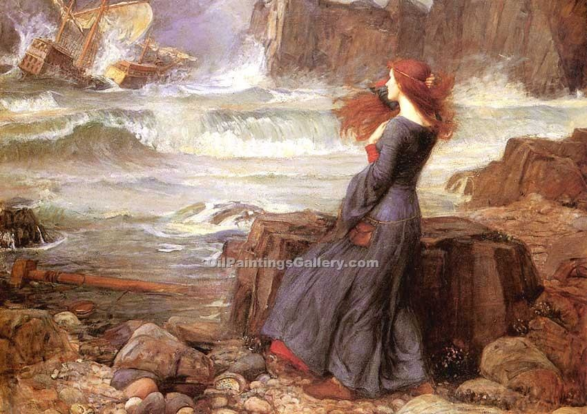 Miranda the Tempest by Waterhouse John William | Paintings For Sale Online - Oil Paintings Gallery