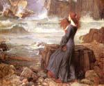 Miranda the Tempest by  John William Waterhouse (Painting ID: CL-4179-KA)