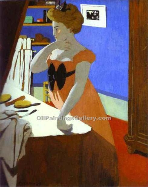 """Misia at Her Dressing Table"" by  Felix Vallotton"