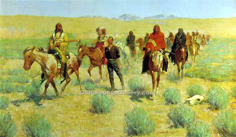 """Missing"" by  Frederic Remington"