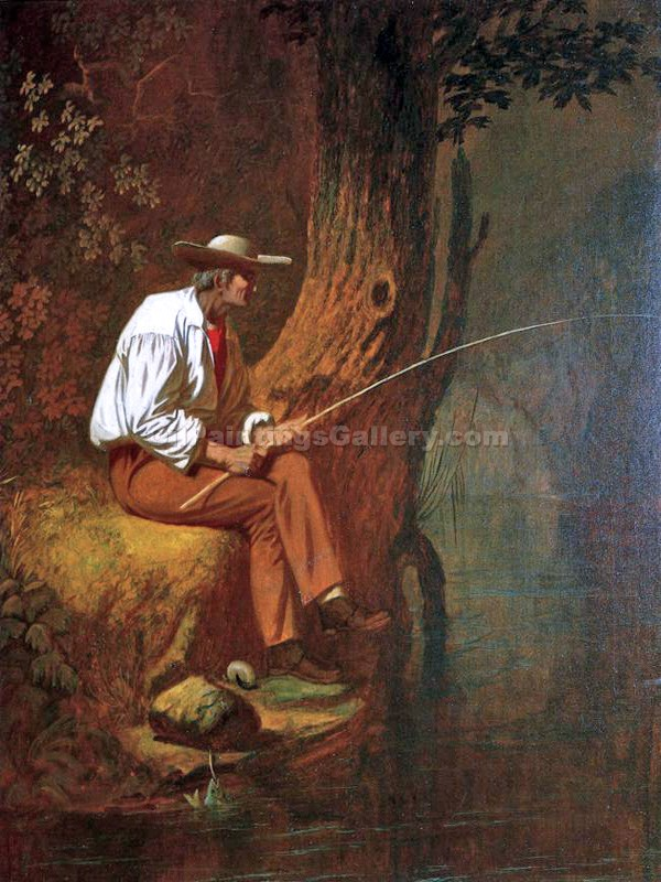 """Mississippi Fisherman"" by  George Caleb Bingham"