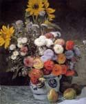 Mixed Flowers In An Earthenware Pot by  Pierre Auguste Renoir (Painting ID: SL-0207-KA)
