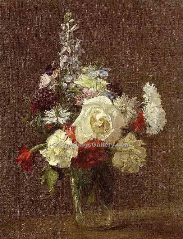 """Mixed Flowers"" by  Henri Fantin Latour"