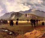 Moat Mountain Intervale, New Hampshire by  Albert Bierstadt (Painting ID: LA-3367-KA)