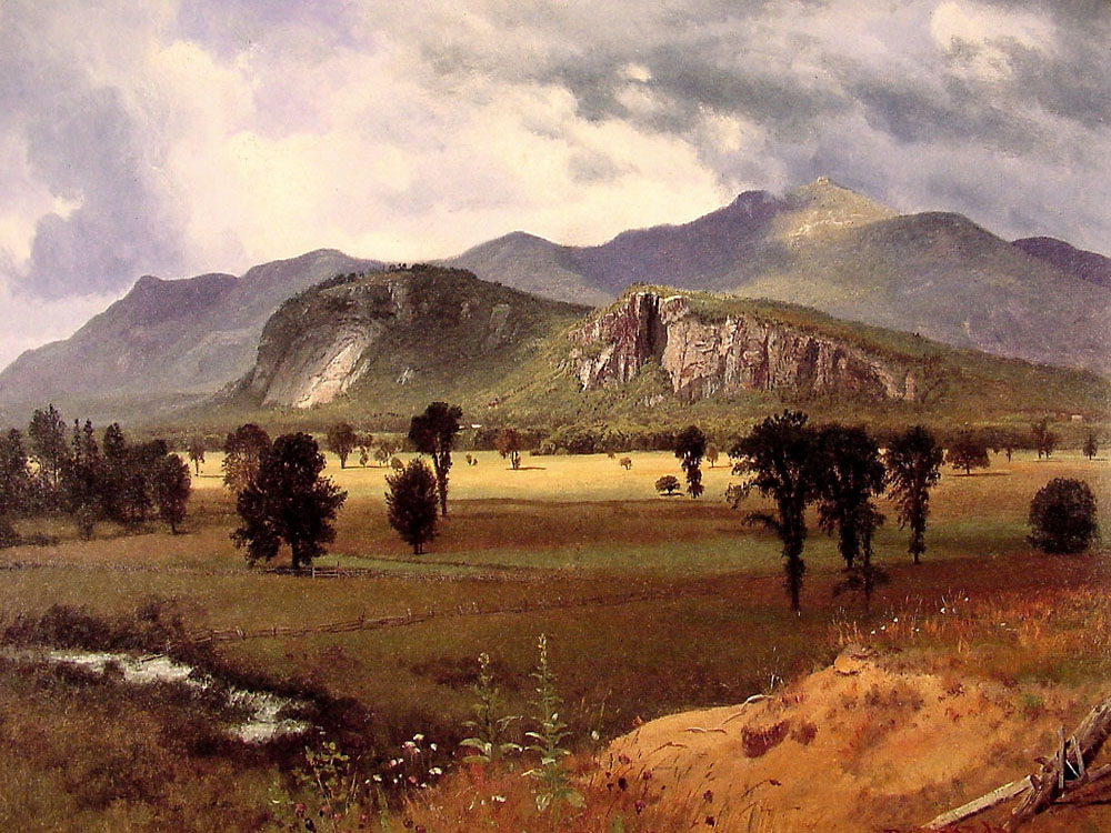 """Moat Mountain Intervale, New Hampshire"" by  Albert Bierstadt"
