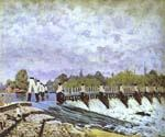 Molesey Weir - Morning.jpg by  Alfred Sisley (Painting ID: LA-0357-KA)